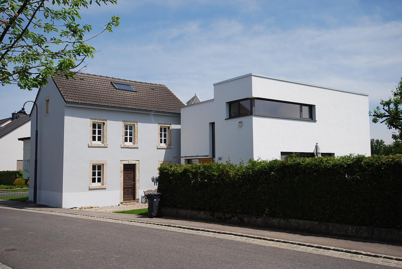 Extension et rénovation d'une maison à Altrier